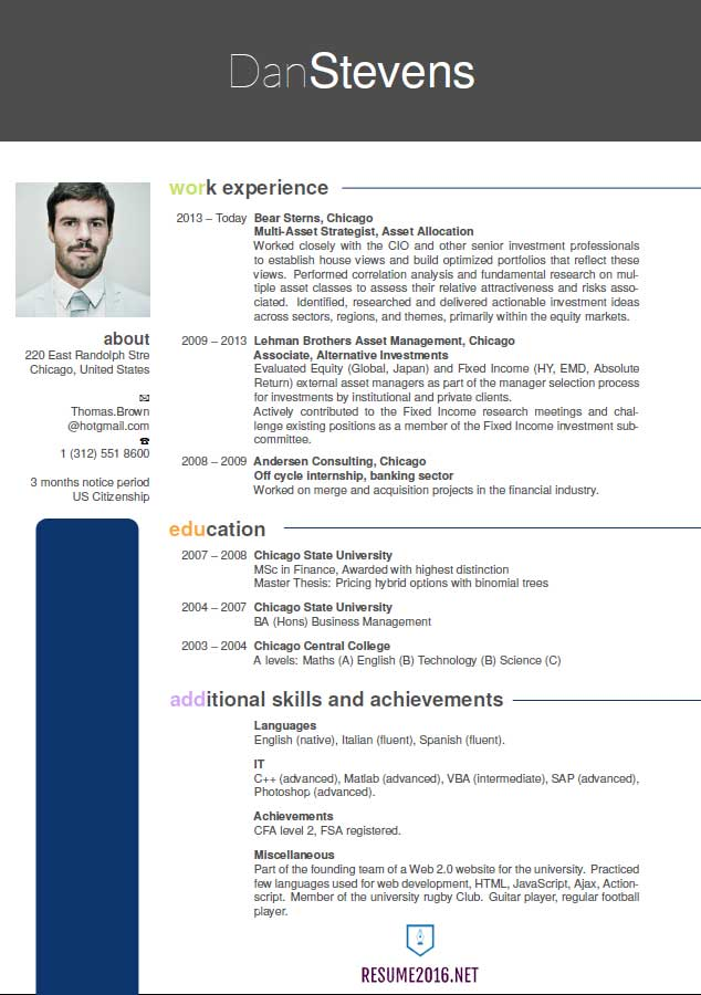 Latest resume format 2016. Hot resume format trends