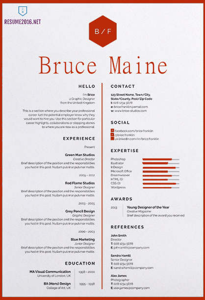 Awesome Resume Templates   Get Employed Today