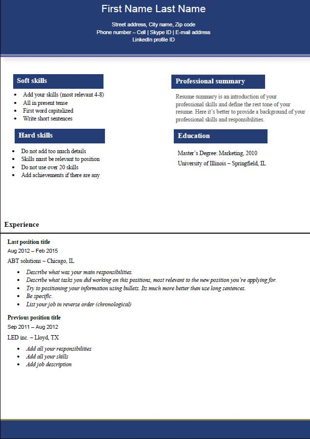 professional resume layout examples  resume layout examples    professional resume template