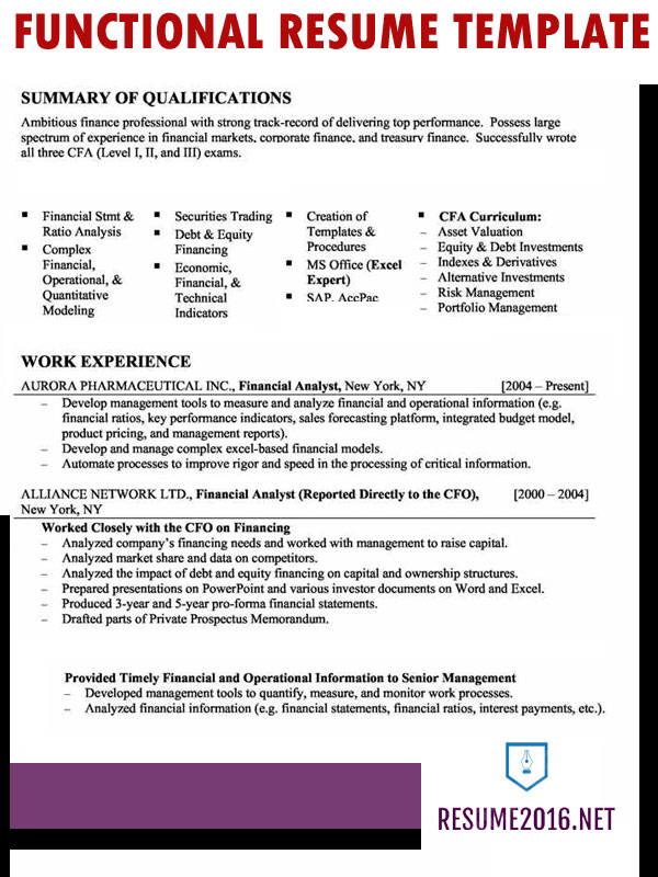 Functional Resume Formats. A Resume Sample Executive Assistant In ...