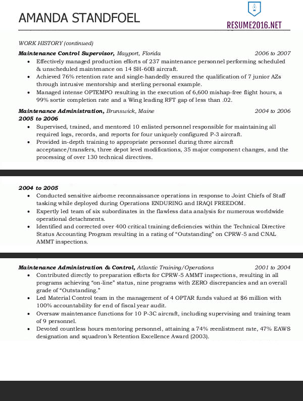 Federal Resume Sample  Government Resume Format
