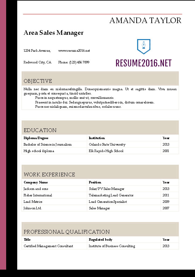 Resume  Download Resume Templates In Word