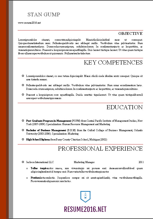 professional resume template word word resume templates 2016 24118